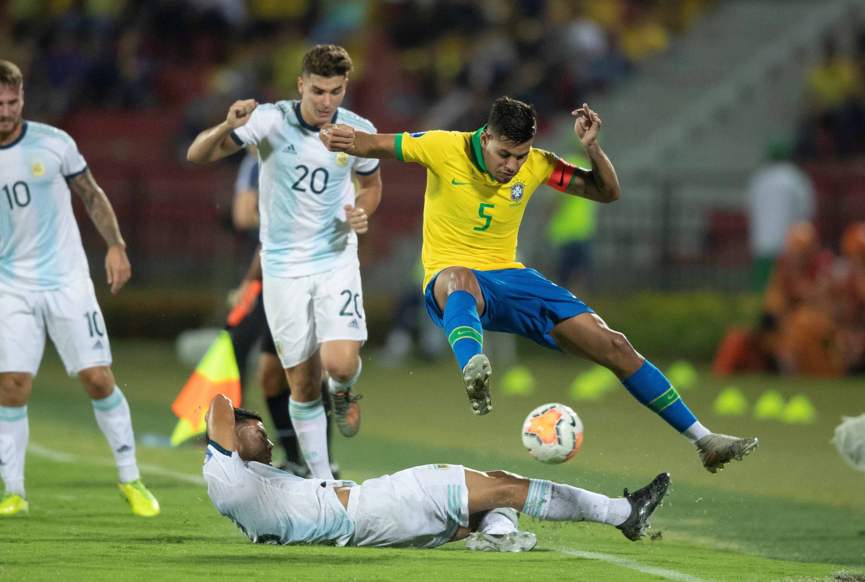 Бразилия - Аргентина, отбор на Олимпиаду