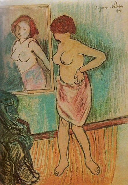 Woman Looking at Herself in the Mirror, 1920 #postimpressionism #suzannevaladon
