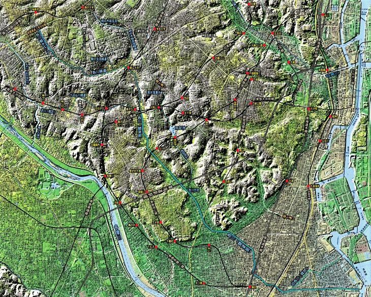こちらは、ほぼ同じ場所の地形図です。 #東京探検隊 pic.twitter.com/9gqNuJNL4I