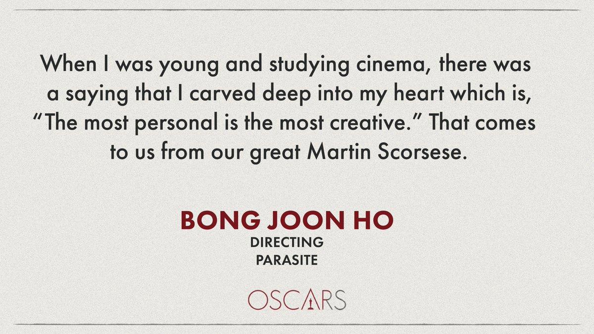 A few words from a winner… #Oscars