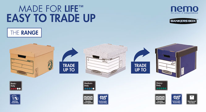 The Good, Better & Best: Sturdy, high quality Bankers Box from @FellowesUK are available in a basic, standard & premium range for all your storage needs, whether you're moving house, jobs or just making space in your office or home. #Fellowes #BankersBox #NemoDealerGroup