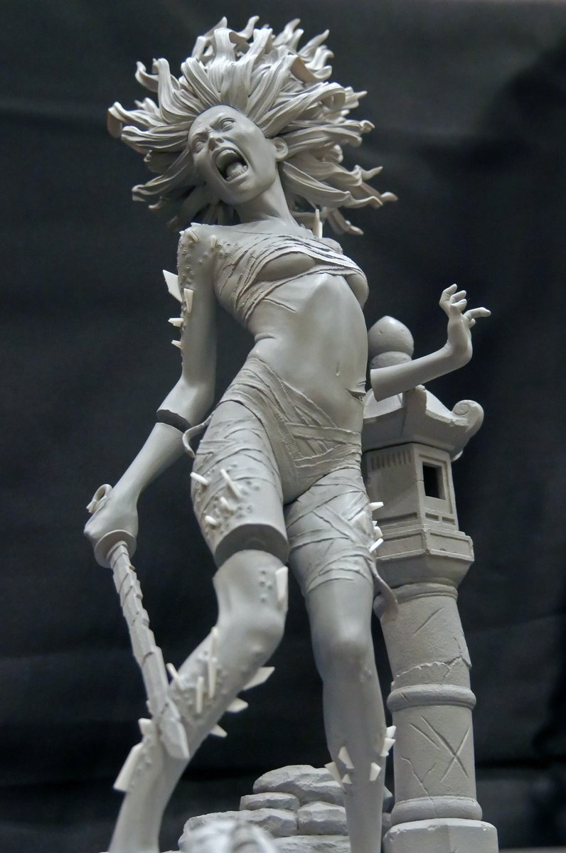 """Gecco Corp. on Twitter: """"Dead by Daylight, The Spirit 1/6 Scale Statue Check out the prototype unveiled at Wonder Festival 2020 Winter! We'll update the painted one as soon as possible. Thank"""
