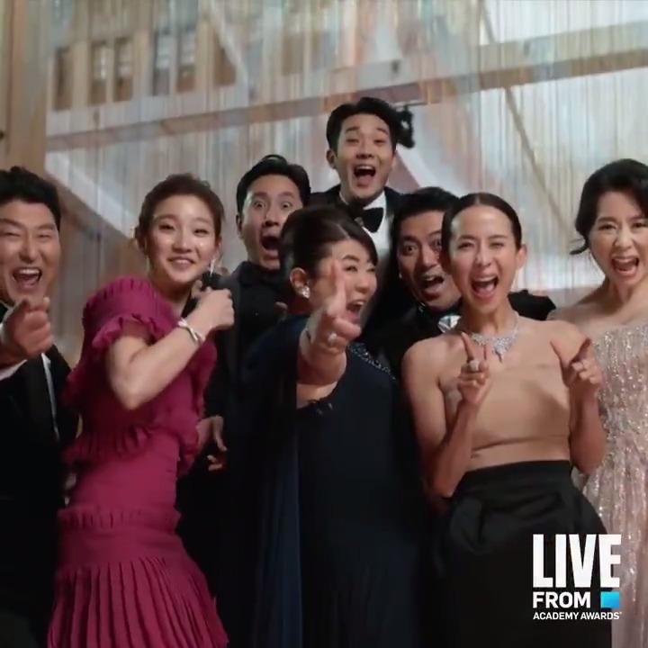 『 #パラサイト半地下の家族 』準備万端‼️いってらっしゃい✨✨#Oscars #アカデミー賞