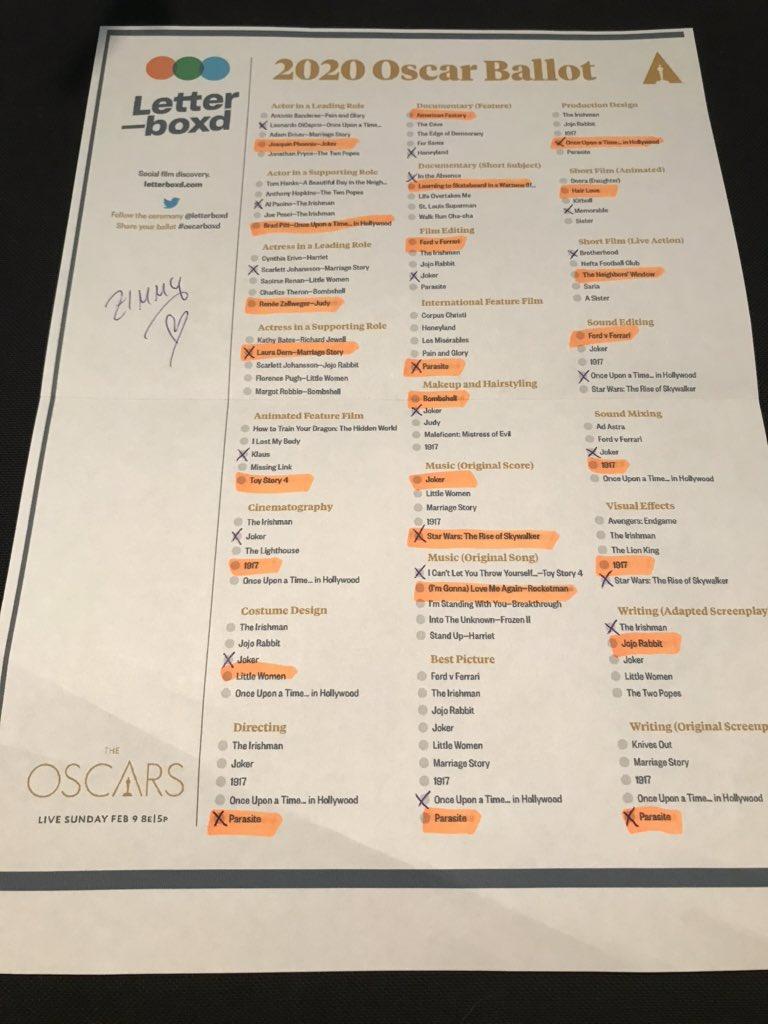 #Oscars