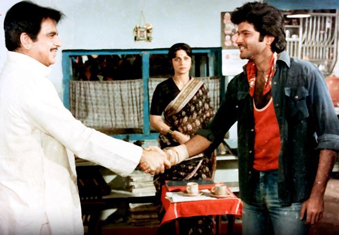 """Film History Pics on Twitter: """"Anil Kapoor, Waheeda Rehman and Dilip Kumar in MASHAAL : released 36 years ago in 1984. Yash Chopra's film written by Javed Akhtar - based on Marathi"""