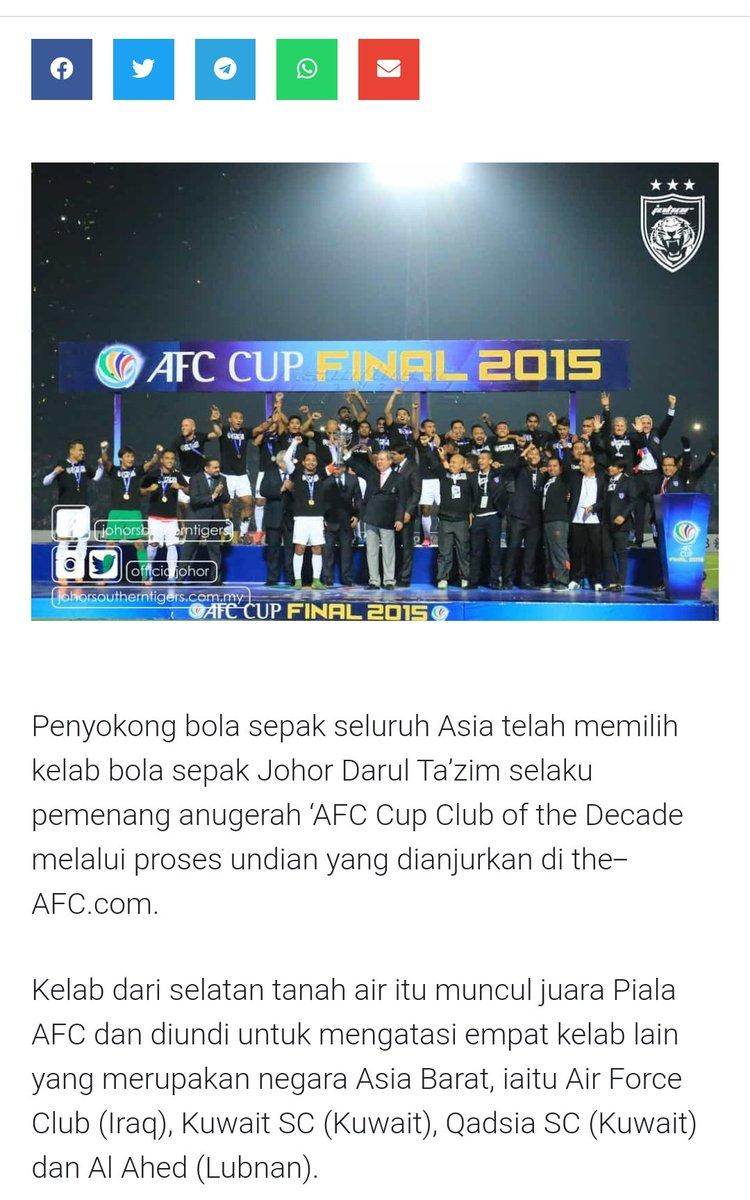 JDT adalah 'AFC Club of the Decade' 2020 #johordarultakzim #johorsoutherntigerpic.twitter.com/Ka6fKtPcbP
