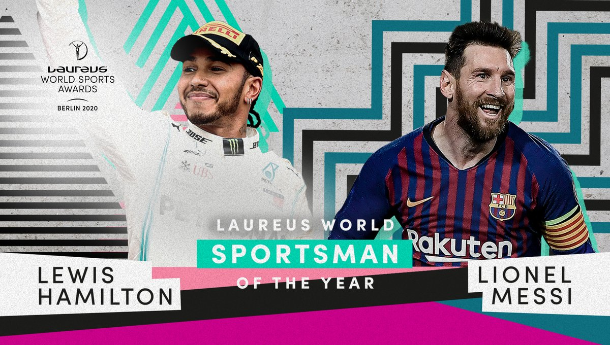 With 🏆🏆🏆🏆🏆🏆 World Championships and Ballon d'Ors between them, @LewisHamilton and Lionel Messi share the #Laureus20 World Sportsman of the Year award - a moment of sporting history!  Congratulations guys!  #SportUnitesUs
