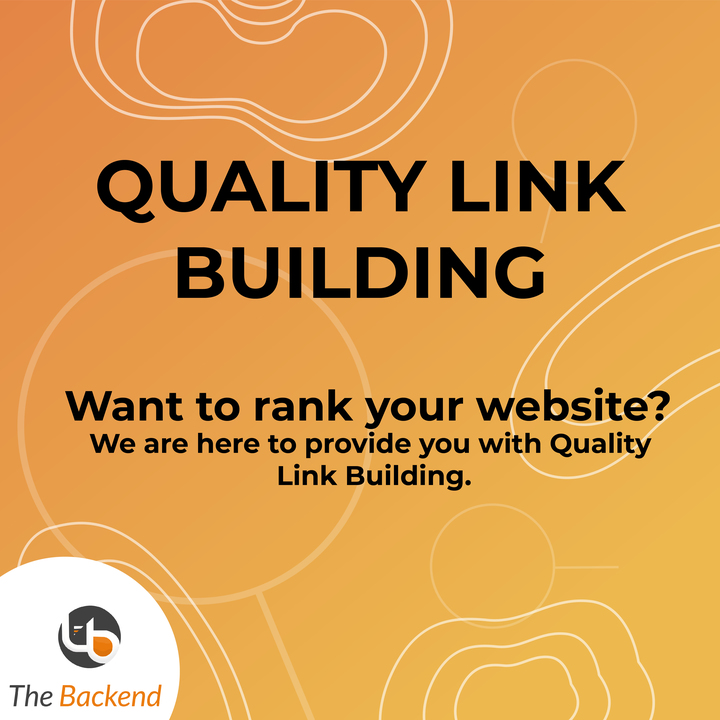 Quality Link Building! One of our specialties! We provide the best services for the Link Buildings.  Contact Us: +1 289-459-0667  info@thebackendsolutions.com http://www.thebackendsolutions.com  #solutionprovider #consultant #sales #marketing #business #businesssolution #inboundpic.twitter.com/WWkxPFIs3U