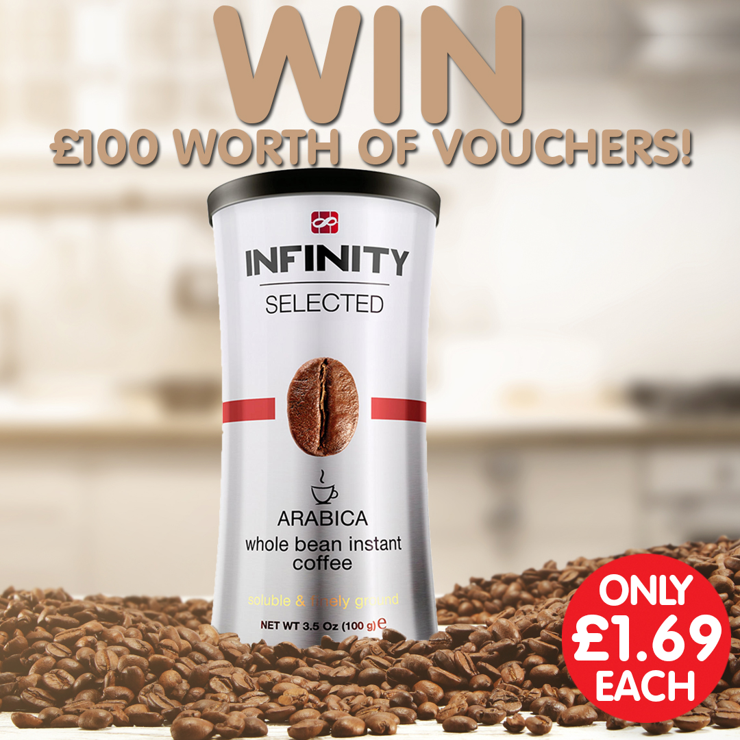 ☕ #Competition Time ☕ We've teamed up with Infinity Coffee (available in stores) to bring you the chance to win £100 in vouchers! Just simply RT, follow and reply with #PoundstretcherWIN 😍 Competition closes: 24th February Terms and Conditions: https://www.poundstretcher.co.uk/terms-and-conditions…