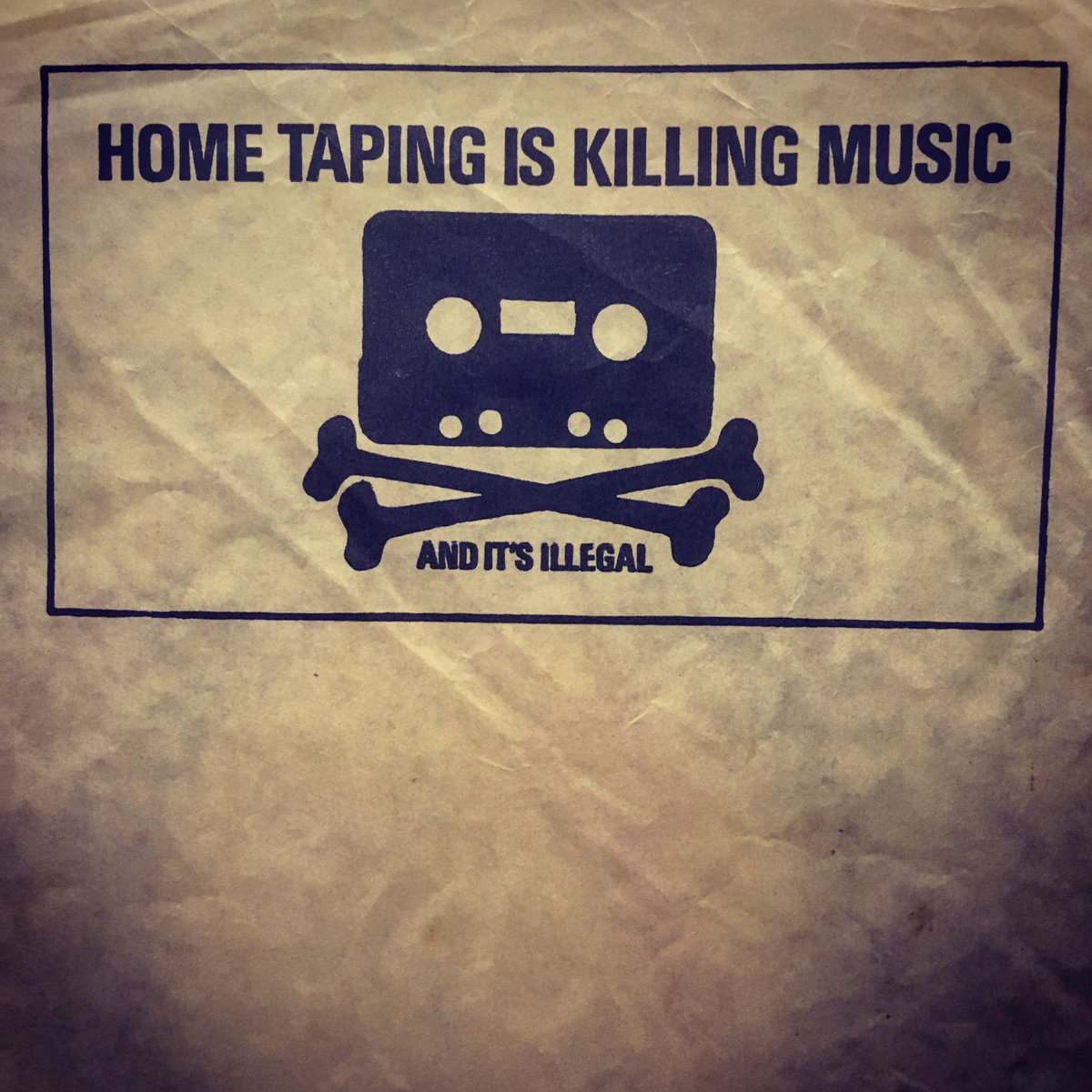 Say no to home taping.  #vinyl #lp #record #taping #records #vinylrecords #tape #taping #music