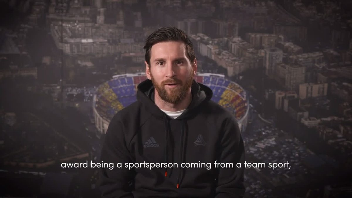 """I am honoured to be the first to win this award being a sportsperson coming from a team sport.""  Felicidades Lionel Messi 🙌  #Laureus20 #SportUnitesUs"