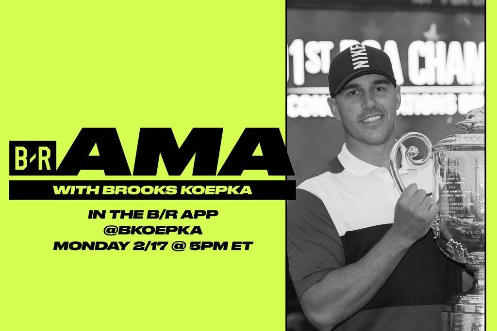 Brooks Koepka AMA 5-6pm ET ➡️