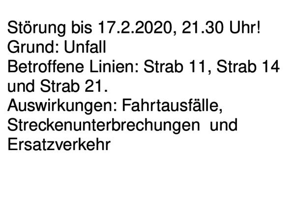 Störung bis 17.2.2020, 21.30 Uhr! Mehrere Linien betroffen. Mehr Infos auf unserer Webseite: https://vgf.fm/i3bpic.twitter.com/4e4ugP1Vl4