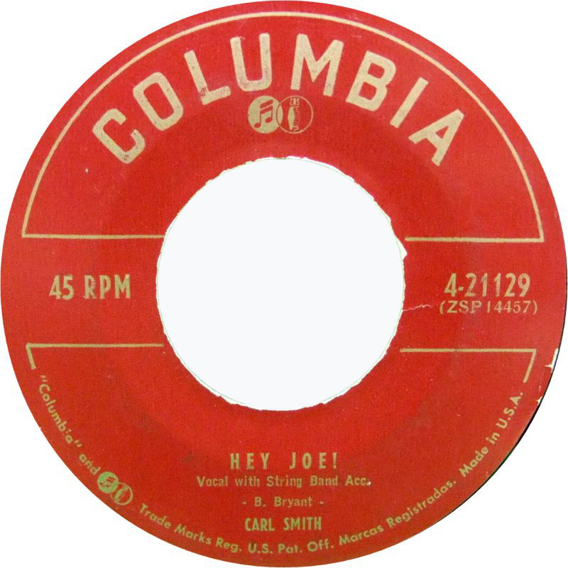 "33.45.78 #NowPlaying  #CarlSmith - Hey Joe! - Maynardville TN - 1953  live @CIUT895FM  ""Our Life Is In Limbo""  #vinyl #vinylrecords #records #albums #lps #45s #RadioShow"