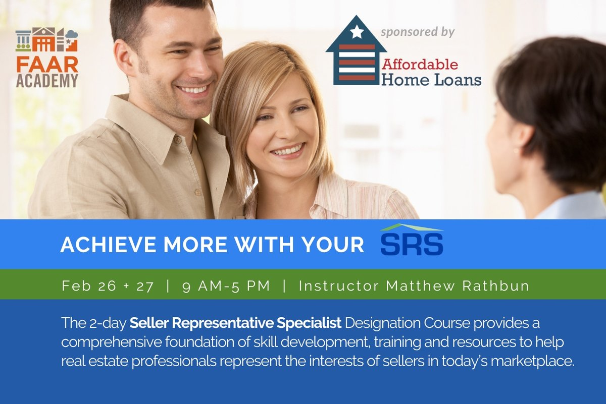 Ready to achieve a new level of professional growth and recognition? Sign up to get seller savvy today with the SRS designation at http://bit.ly/SRS2020  #realestatelife #realestateagents #realtors #fxbg #staffordva #TeamFAAR #realestate #virginia #realestatebrokers pic.twitter.com/wpBoZqjlAk