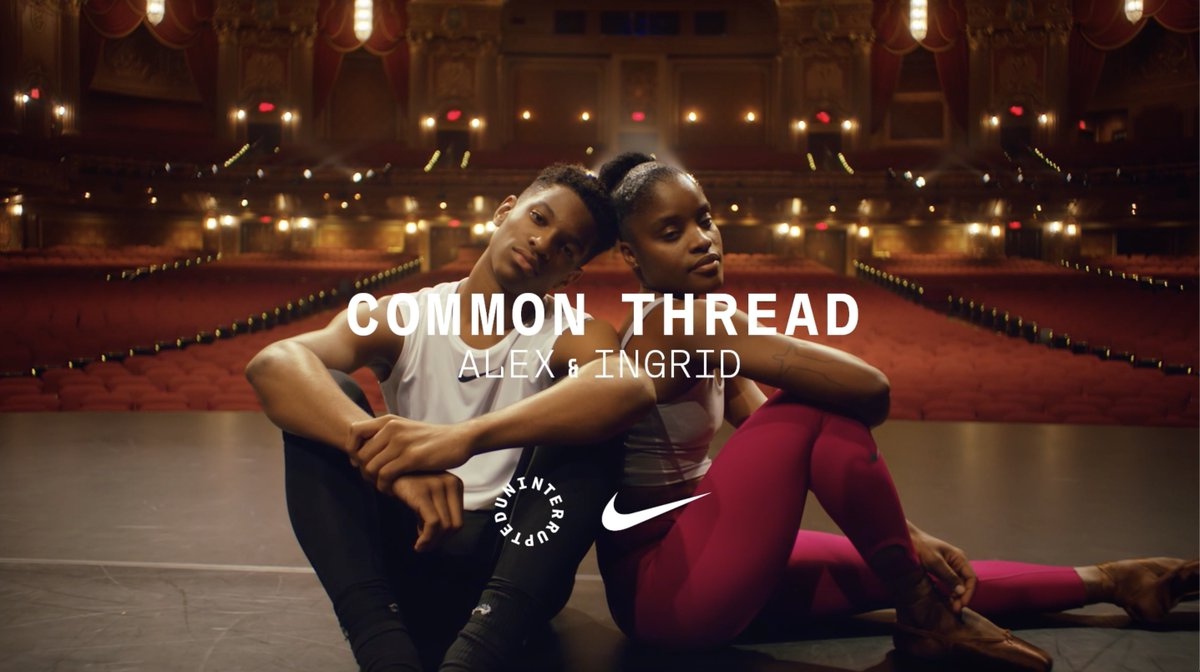 """""""This is the dance we do together. Making our legacy as individuals and defining our future as one.""""   Common Thread: Ingrid x Alex, narrated by @SerenaWilliams #UntilWeAllWin"""