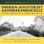 Image for the Tweet beginning: Asuinrakennusten #energiatehokkuus parantamiseen tarjolla uutta