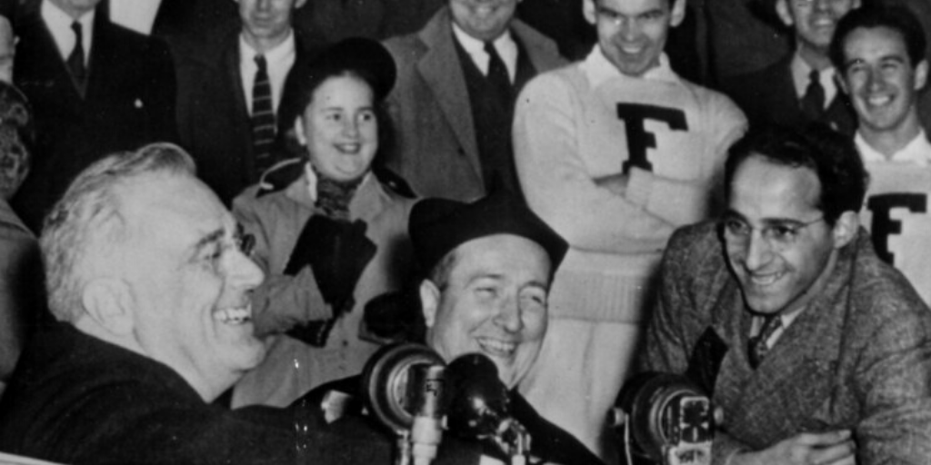 Happy Presidents' Day, Fordham. FDR visits Fordham, October 28, 1940.