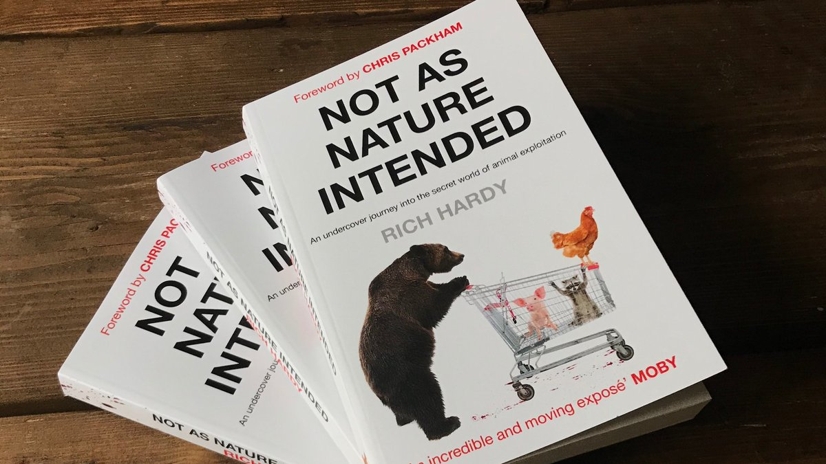 A big thanks to the wonderful @ChrisGPackham for writing the foreword for my new book. Take a trip undercover with me as I investigate animal exploitation. Out now in all good book stores!