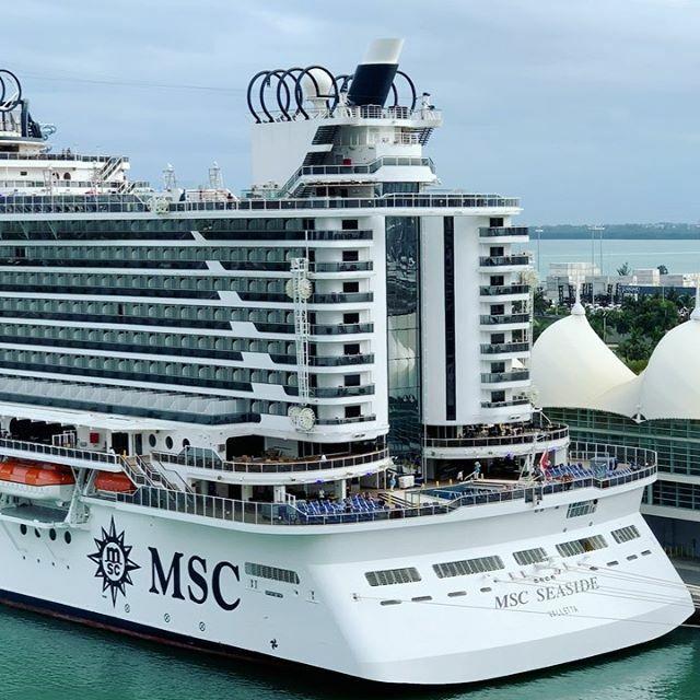 Have you cruised on #MSCSeaside? I can't get enough of this fantastic ship! #MSCCruises #portmiami #cruiseshiplife #cruiseship #cruiseships #lovetocruise #cruisefun #caribbeancruise #TalkingCruise #ilovetocruise #ilovecruising @msccruisesofficial https://www.instagram.com/p/B8rAQgxhgSR/pic.twitter.com/KSod5uuQGq