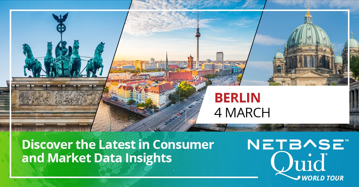 Join us for our #NetBaseQuidTour in #Berlin on Wed (4 Mar). We're thrilled to have @GilbertSaktoe, Researcher at @MetrixLab, discuss methods that marketing professionals can use to gain actionable insights.http://bit.ly/NBQBerlin20.  #brandenburg #berlincity pic.twitter.com/Wh1v9xu0kF