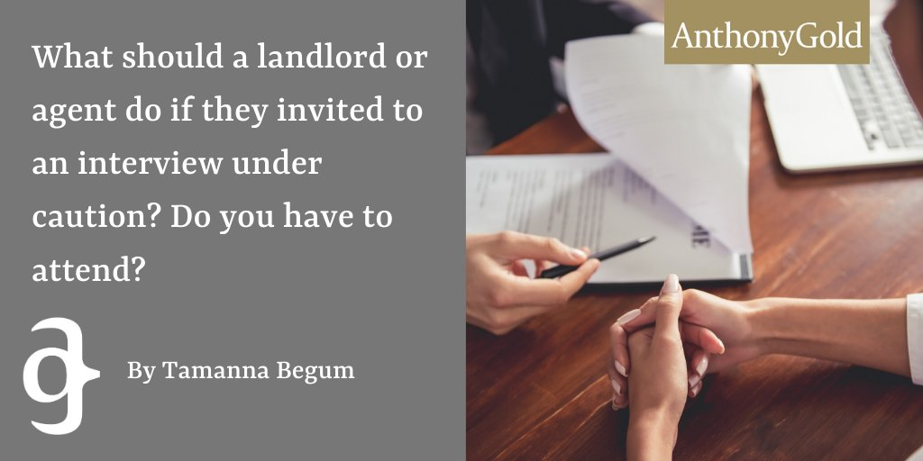 Tamanna Begum discusses what landlords or agents should do if they are invited to an interview under caution. To read the full article click here https://bit.ly/3bB3nHH #landlord #agent pic.twitter.com/lE7rcKEAA0
