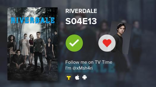 I've just watched S04E13 of Riverdale #Riverdale  #tvtime https://tvtime.com/r/1hxZdpic.twitter.com/hkY42O1sRf