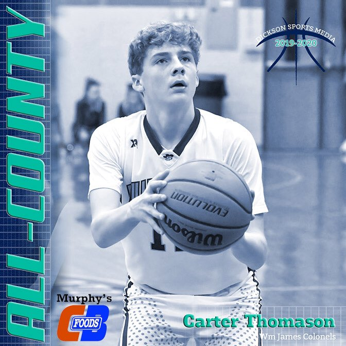 Shout out to Carter Thomason for being named to the first-ever Dickson Sports Media All-County Middle School Basketball Team! pic.twitter.com/LF87tcdP76