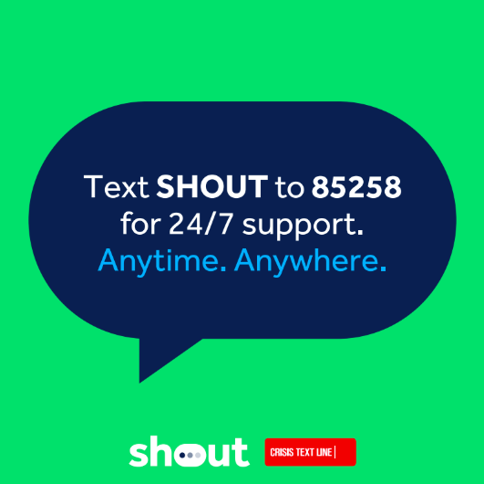 """Heads Together on Twitter: """"Whoever you are and whatever you're going  through, it's important you know that you're not alone. Help us share the  @GiveUsAShout number so that everyone knows there's somewhere"""