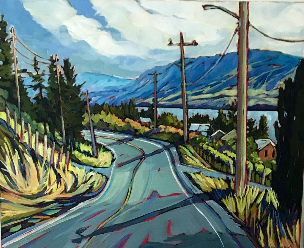 "Artist LYSE DESELLIER  "" Road Trip To Naramata ""  #osoyoos #okanagan #naramata #lysedesellier #oliverbc #artpic.twitter.com/N9CQd48nMy"