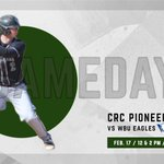 Image for the Tweet beginning: ⚾️ GAMEDAY! ⚾️ @crcbaseball hits the