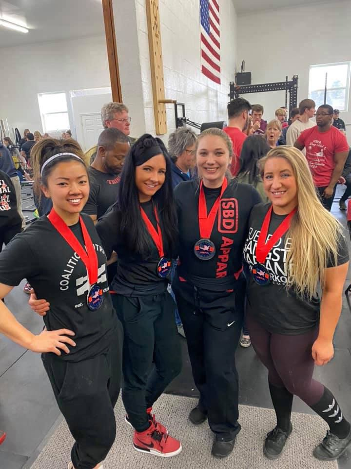 Competed in my first powerlifting competition of 2020 this past Saturday. Placed 2nd in the 67.5 open - a stacked class of strong women and competed alongside my best friends who also took home some hardware! #girlswhopowerlift pic.twitter.com/csAVZ9VkJ7