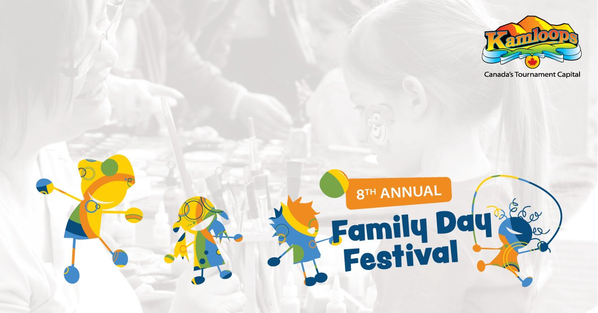 Happy Family Day!  Celebrate with the City of Kamloops today from 10:00 am–2:00 pm as the Tournament Capital Centre transform into a FREE festival for families with children of all ages! For more information, visit http://Kamloops.ca/FamilyDay pic.twitter.com/JLbbgQ0L5P