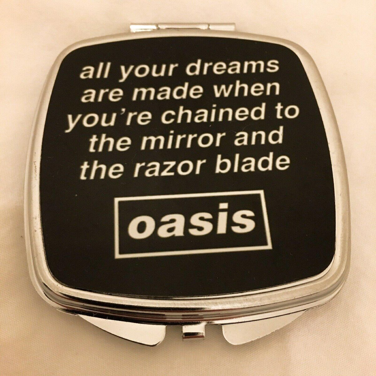 oasis - (What's the Story) Morning Glory?Lyric Pocket Mirrorhttps://dead-posh.com/collections/lifestyle/products/oasis-pocket-mirror…Made In England 🏴#deadposhuk #oasis #LiamGallagher #NoelGallagher #TheBeatles #nottobesniffedat #chisel #snow #beak #charlie #coke #flake #pubgrub #music #fashion #blizzard #toot #britpop