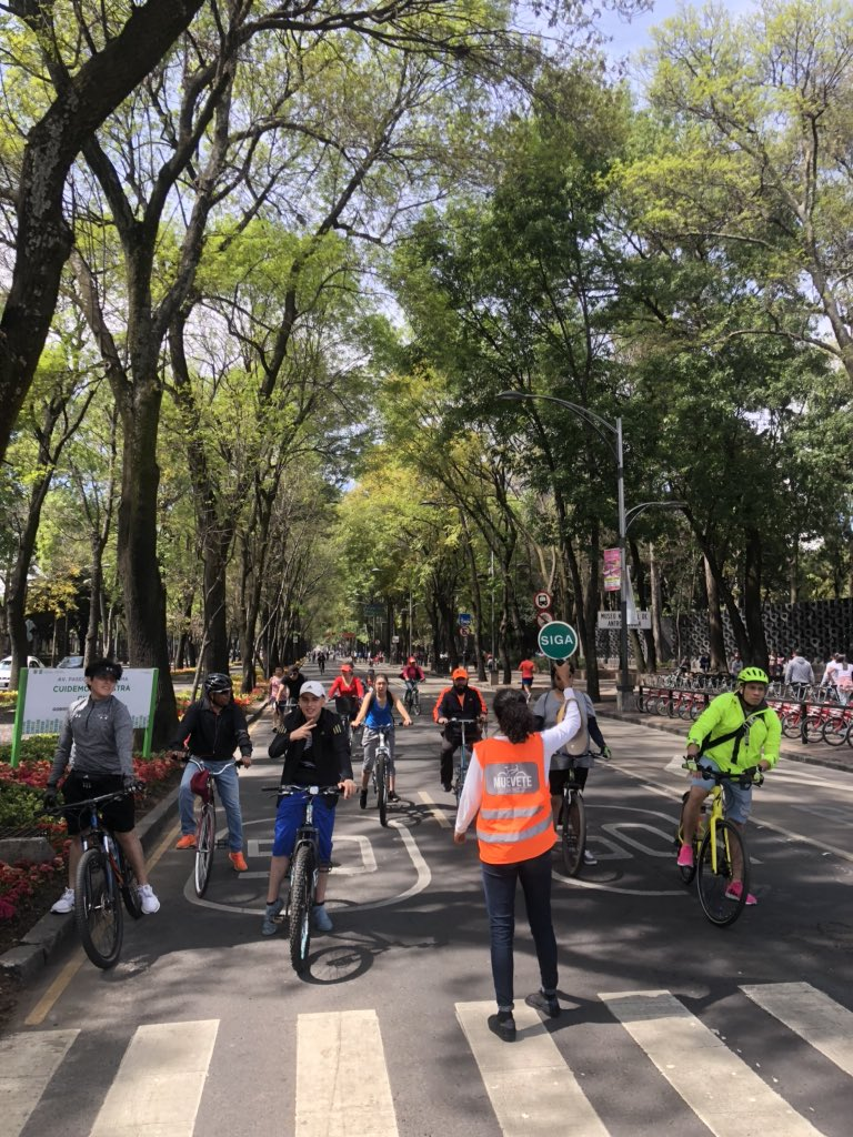 How about every week?  Here in Mexico City ciclovia closes half of traffic lanes to 🚲s & pedestrians ONLY - EVERY SUNDAY!  Communities that wish to prioritize pedestrians, bikes, & scooters should take note.  #LeadershipMatters https://twitter.com/miamibikelawyer/status/1229431367722815490 …