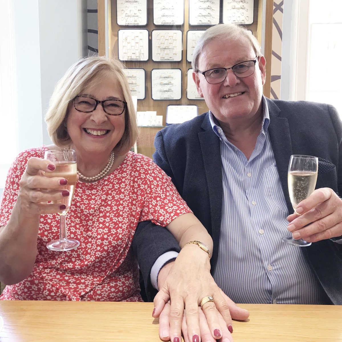 test Twitter Media - We can't help but smile at this photo! 🥰 We recently remade a long lost engagement ring for this couple from memory & research by one of our jewellery designers. He re-proposed with the it and she was absolutely delighted, her face says it all! 👏🏻 #relationshipgoals https://t.co/Ciianvl5zU