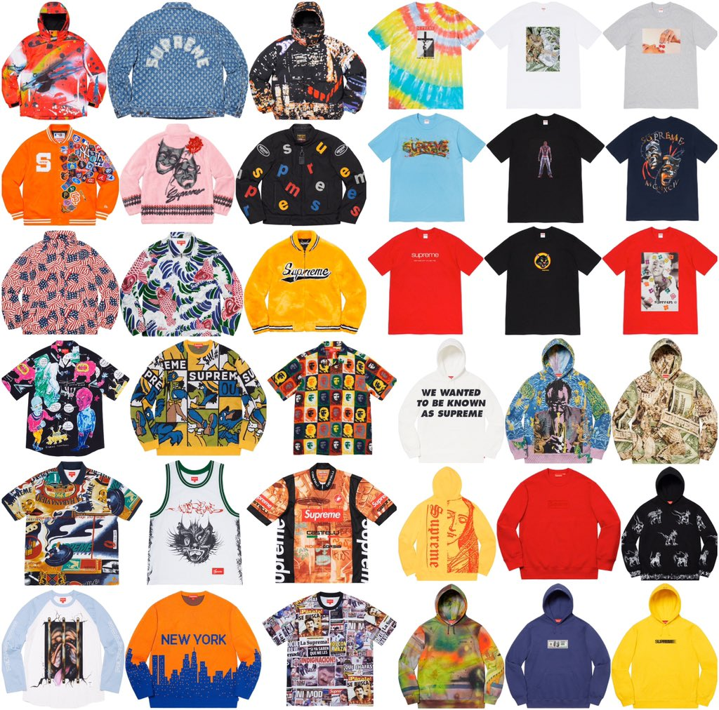 Here are some of the pieces from the Supreme Spring/Summer 20 Preview. What items are your favorite?  Week 1 News Coming Soon!