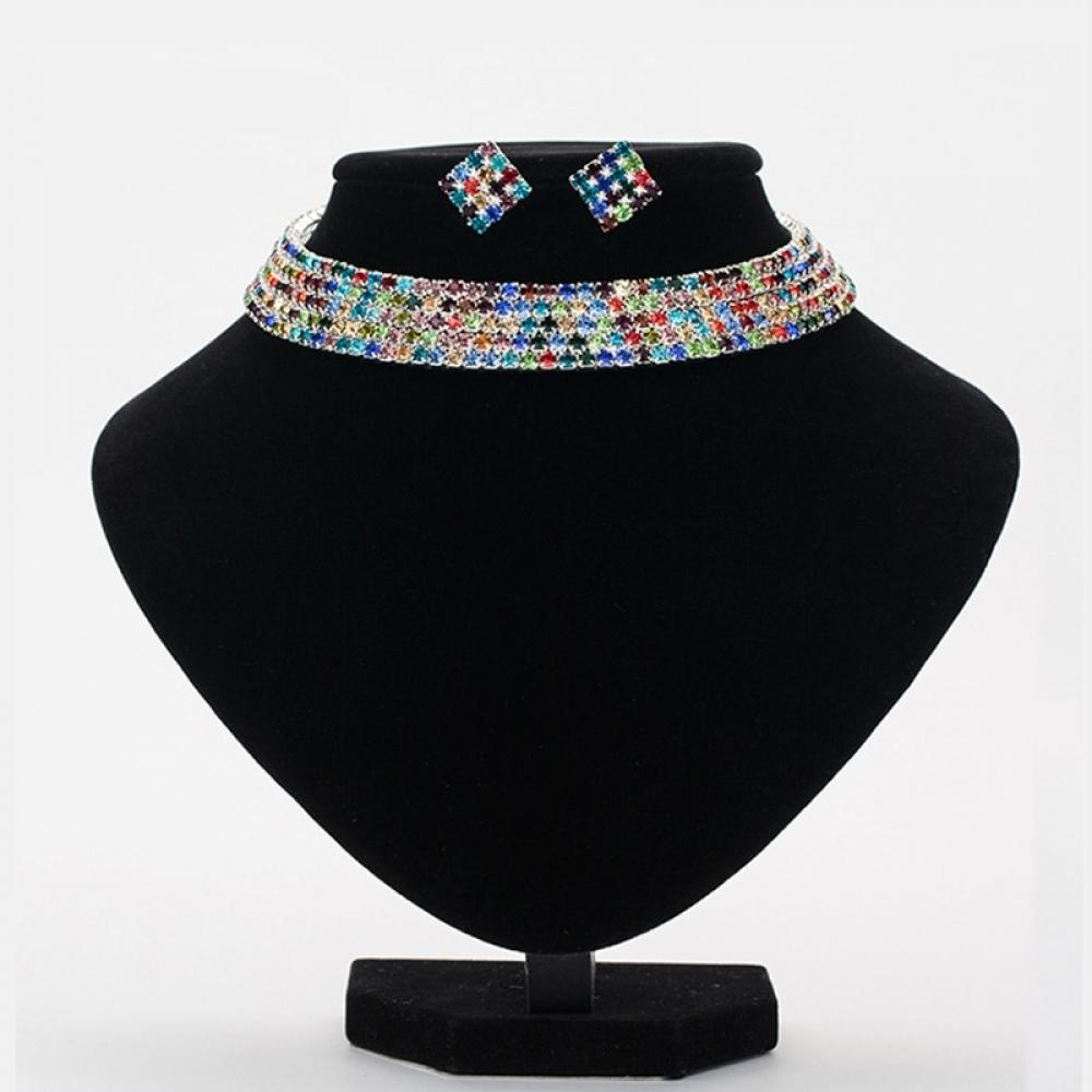 SUGAR-RUSH Colorful Crystal Rhinestone Choker Set -    #artisan #jewelrydesign #jewelrygram #jewelrymaker #etsyshop #etsyjewelry