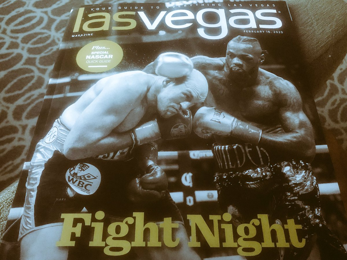 Every room at the MGM Grand has this magazine in it. #WilderFury on billboards up and down the strip too. Fightweek underway but here's a look back on the mayhem last time out: http://www.bbc.co.uk/sport/boxing/51501533… #bbcboxing