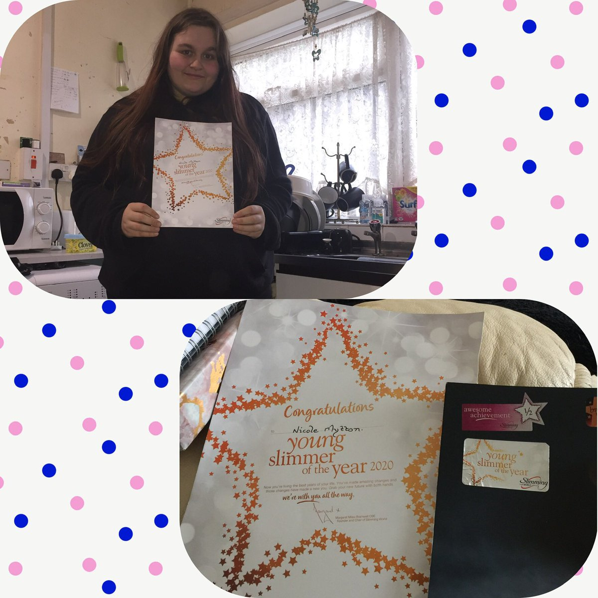 Young Slimmer of the Year 2020 award @SlimmingWorld #slimmingworld #youngslimmeroftheyear2020 #awards pic.twitter.com/BCyBNufT6X
