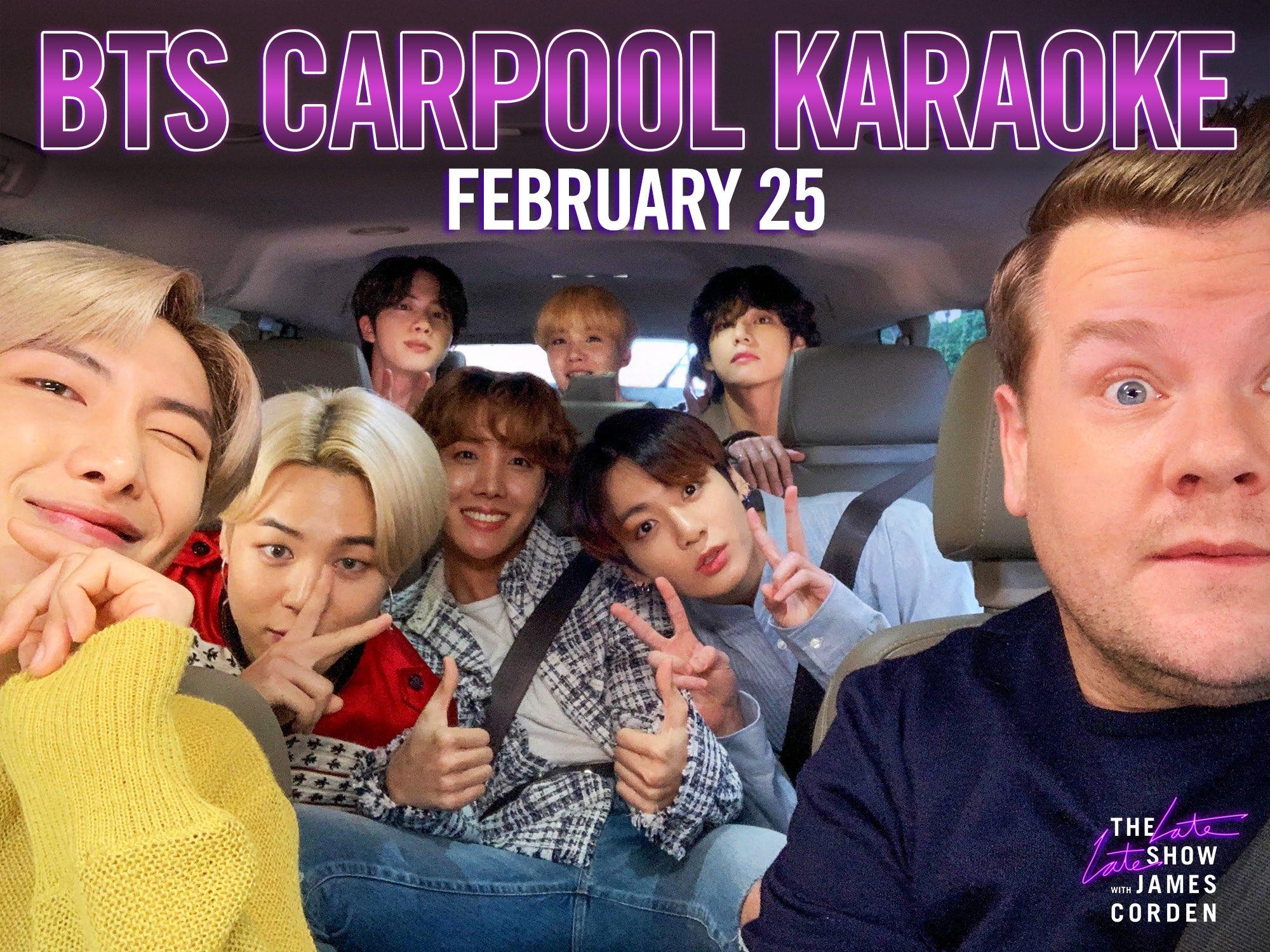 BTS Carpool Karaoke Bersama James Corden, Penantian Panjang ARMY Akhirnya Terbayar
