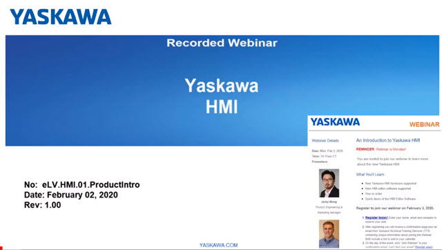 #ICYMI: Dive into the new line of Yaskawa HMIs in our eLearning webinar. Discover HMI hardware, HMI editor software Movicon, how to order, & a demonstraion of the HMI Editor Software.   #Yaskawa #HMI #Webinar #eLearning #YaskawaRAPID
