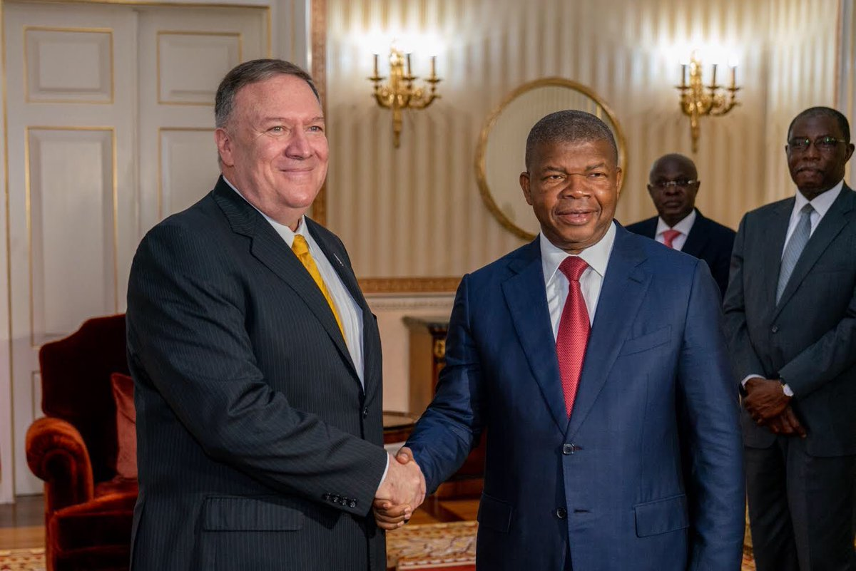 It was a pleasure to meet with Angolan President João Lourenço today in Luanda. The U.S. strongly supports #Angola's anti-corruption, democratization, and economic reform efforts.