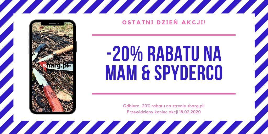 Kup teraz z rabatem -20% https://buff.ly/32cjeIF wszystkie produkty MAM & SPYDERCO!  #mam #mamknives #shargpl #bestsale #sale #PROMO #spyderco #spydercoknivespic.twitter.com/wBQe8evqmP