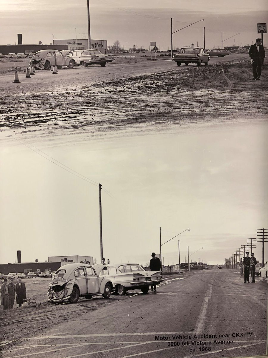 Motor Vehicle Accident in the 2900 block of Victoria Ave circa 1968!    #BDNMB pic.twitter.com/G4t9plRskd