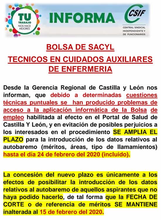 Publicadas fecha de corte para la actualización de la Bolsa de Empleo de Técnicos en Cuidados Auxiliares de Enfermería del SACYL - Sanidad de Castilla y León... EQ_yX67XYAAhJ92?format=jpg&name=900x900