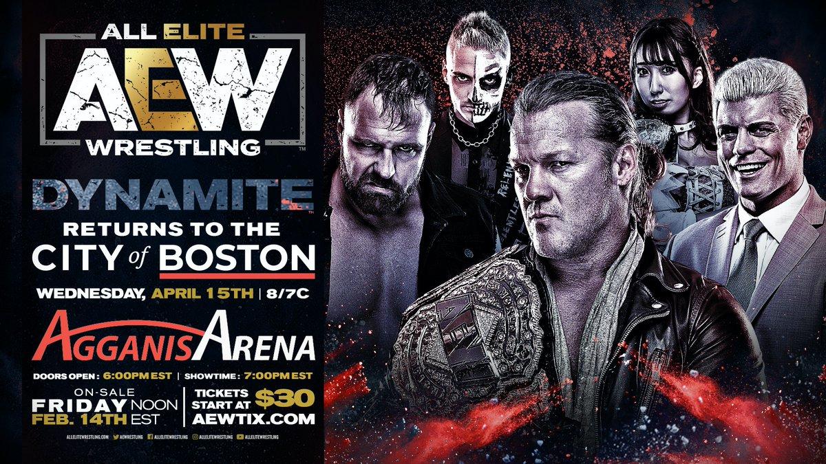 AEW Dynamite Boston Return Announced, Update On This Week's Dynamite In Austin, TX.