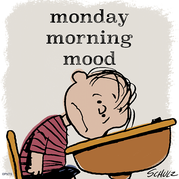 """PEANUTS on Twitter: """"Monday mornings have me like…… """""""