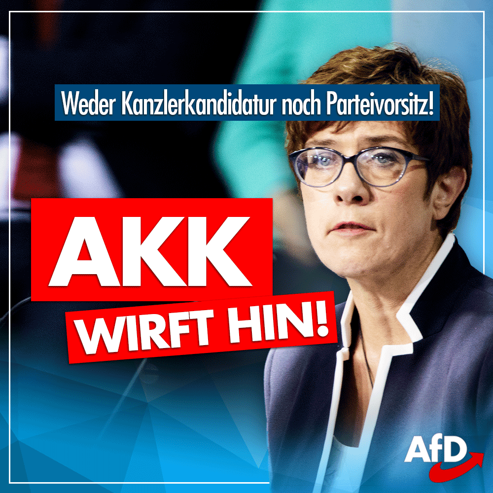 #AKKRücktritt