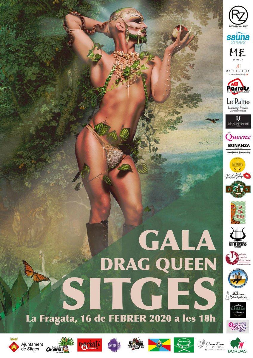 El proper diumenge, 16 de febrer, estrenem la 1ª Gala Drag Queen 👑 del #CarnavalSitges20 Un concurs que compta amb la col·laboració de les entitats i colles 🎭 del Carnaval de Sitges i l'actuació de la Reina Infantil. 👯♂️
